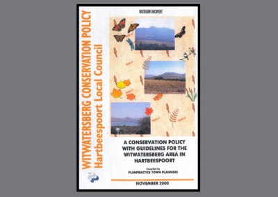 Witwatersberg Conservation Policy, November 2000